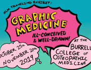 Graphic Medicine Exhibit Flyer