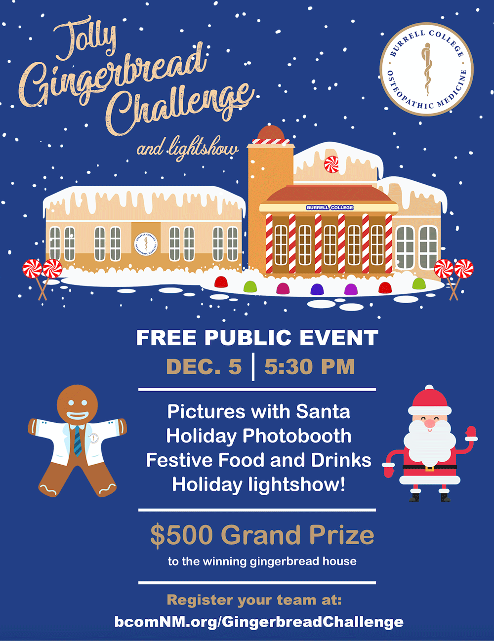 Jolly Gingerbread Challenge Flyer
