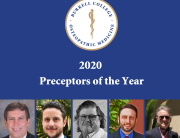 2020 Preceptors of the Year, featuring the portraits of all 5 winners under the Burrell logo